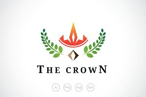 The Rice Crown Logo Template