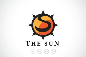 The Sun Thorns Logo Template