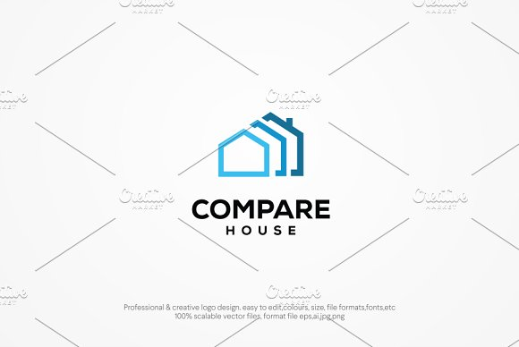 Compare House Logo Template