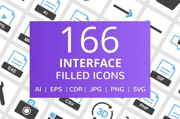 166 Interface Filled Icons
