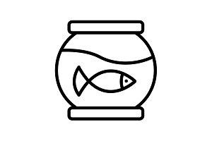 Web line icon. Aquarium. black