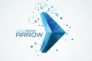 Triangular arrow logo