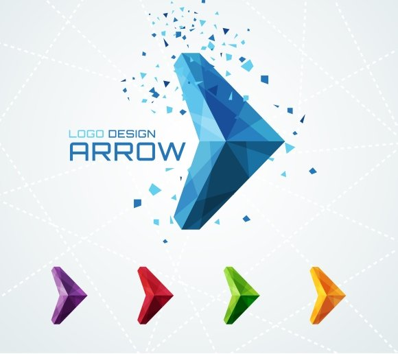 triangular arrow logo logo templates creative market