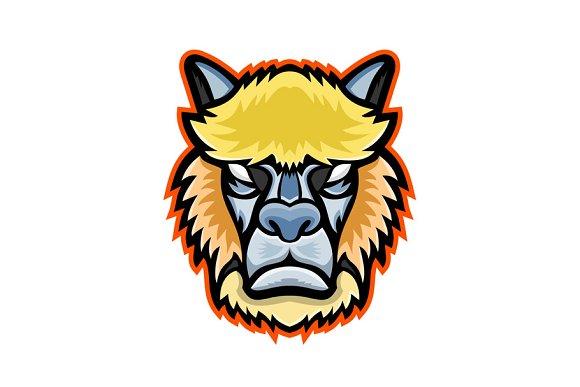 Angry Alpaca Head Mascot