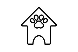 icon. Booths for dogs, Animal House