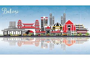 Bekasi Indonesia City Skyline