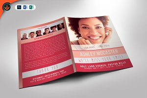 Smile Funeral Program Template