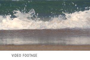 Sea waves washing the shore