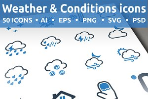 Weather & Conditions icons