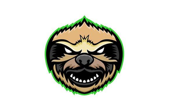 Angry Sloth Mascot