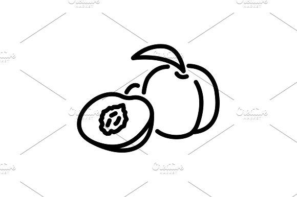 Web Line Icon Apricot Black