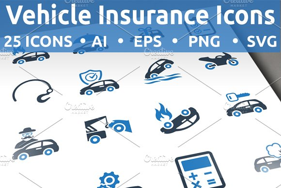 Vehicle Insurance Icons