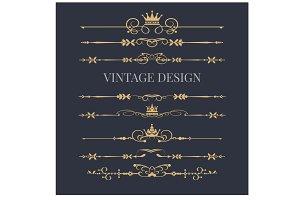 Design, Logo elements, Royal, vector