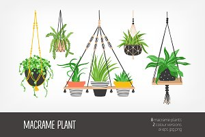 Macrame hangers for plants