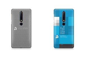 Nokia 6 2018 3d IMD Case Mockup