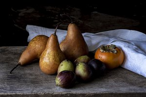 Pears and Persimmons Dark and Moody