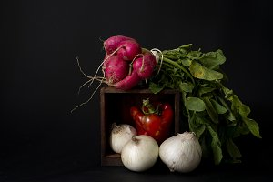 Dark and Moody Vegetables