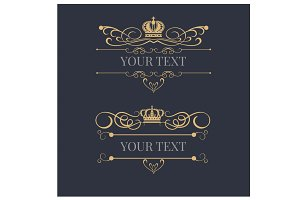 Logo elements, Royal, vintage