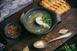 fish soup with mackerel
