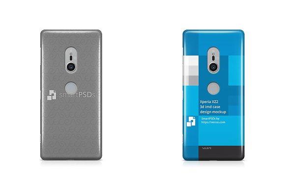 Sony Xperia XZ2 3D IMD Case Mockup
