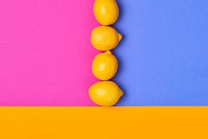Lemon Citrus fruit. Fashion Pop Art