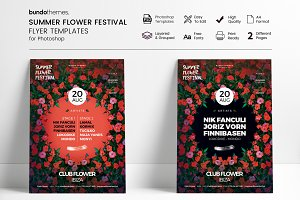 Summer Flower Festival Flyer