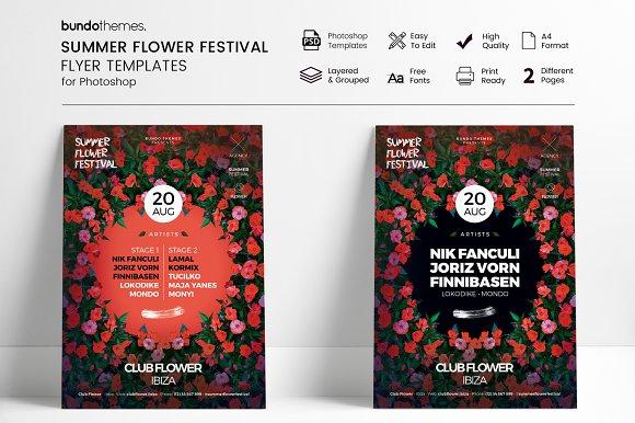 Summer Flower Festival Flyer