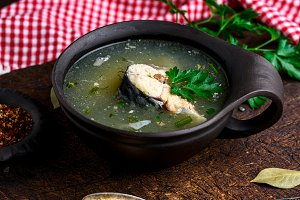 Boiled fish soup
