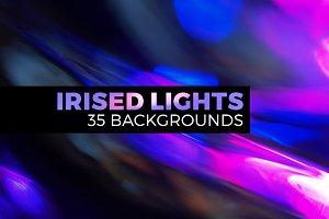 Irised light abstract landscapes