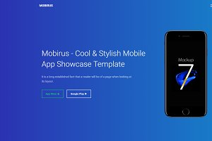Mobirus - Landing Page Template