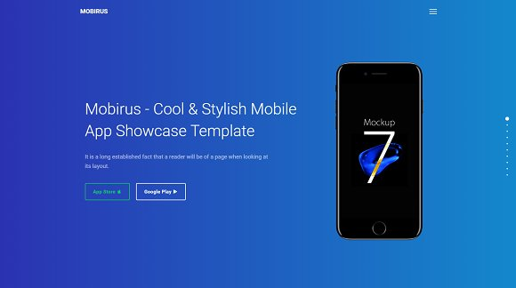 Mobirus Landing Page Template