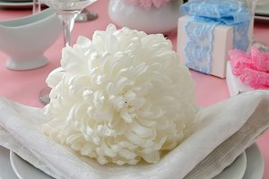 Flower as element of decor tableware