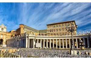 The Apostolic Palace in the Vatican city