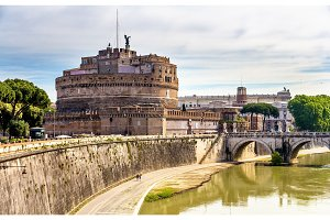 View of Castel Sant'Angelo in Rome