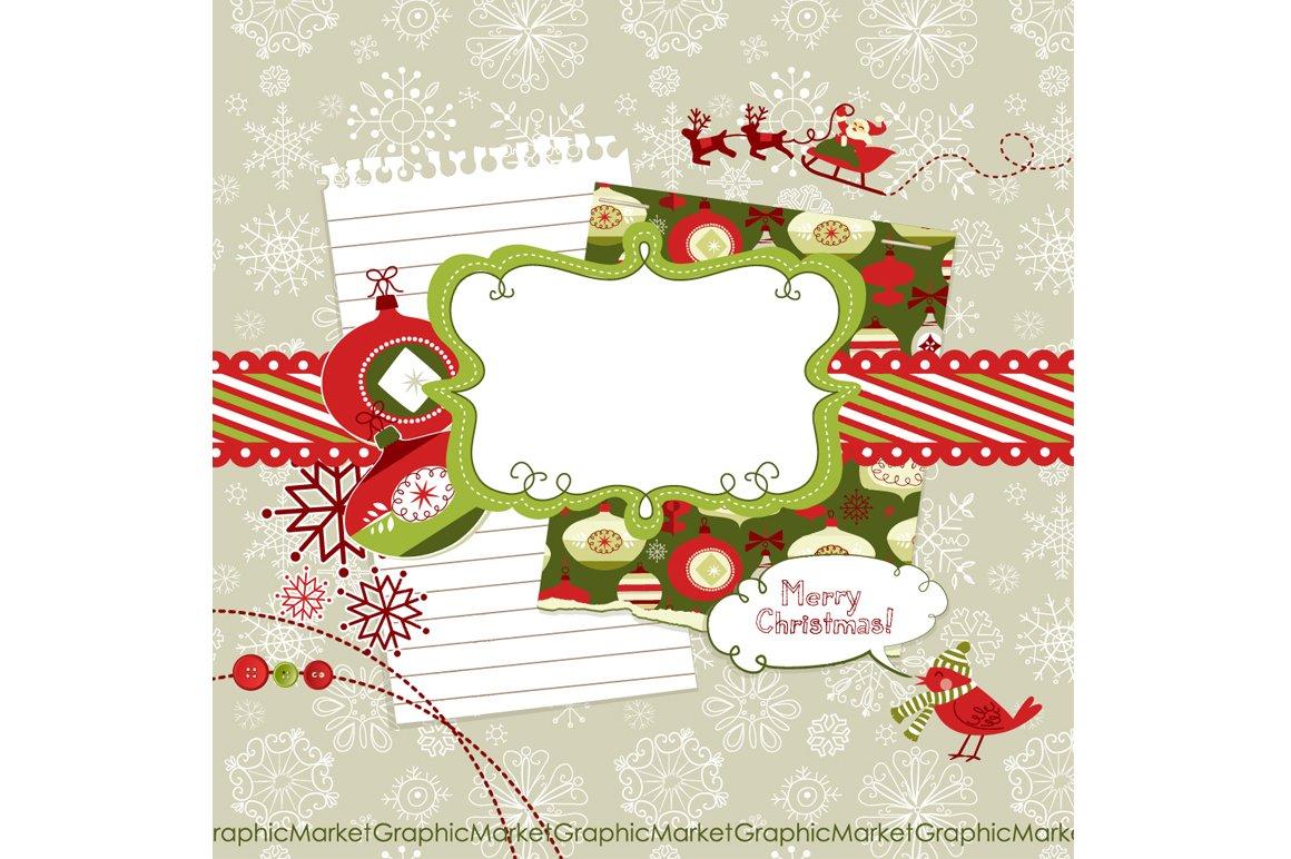 Christmas Scrapbook Embellishments Illustrations Creative Market