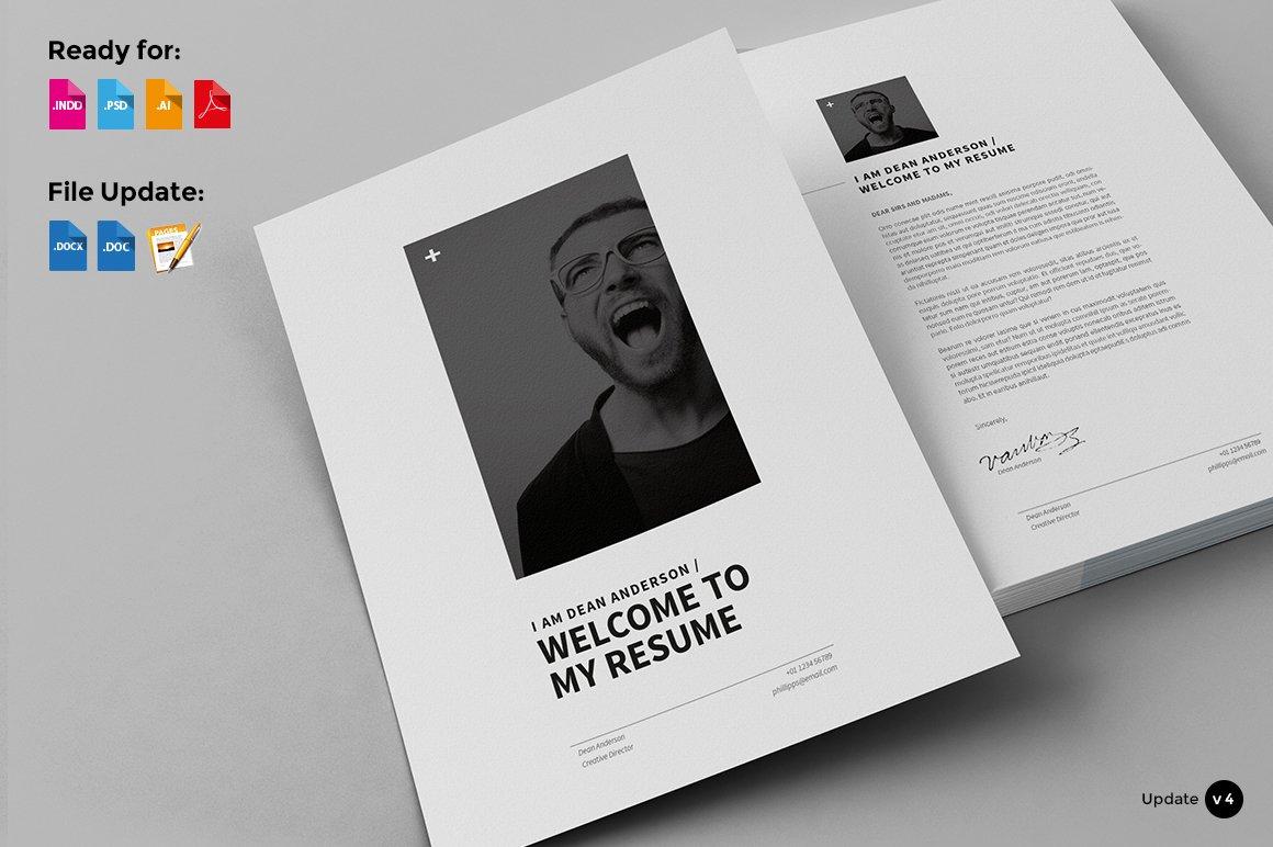 12 pages - minimal resume cv ~ resume templates ~ creative market