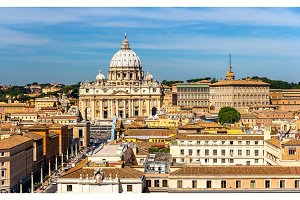 View of St. Peter's Basilica in Rome