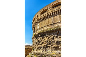 Details of Castel Sant'Angelo in Rome