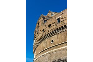 Details of Castel Sant'Angelo in Rome, Italy