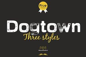 Dogtown sans serif headline font