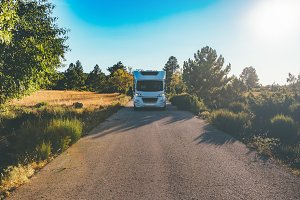 Motor home on a path