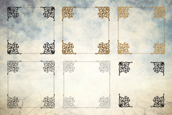 Vector Baroque Ornament Elements