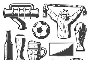 Vintage Sport Bar Elements Set