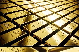Mystery shining gold bars mini Set