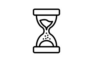 Web line icon. Hourglass black