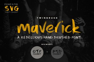 Maverick OTF and SVG Font