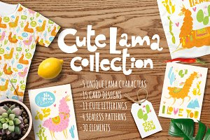 Cute Lama collection