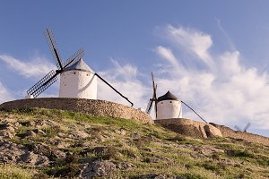 windmills in consuegra toledo Spain