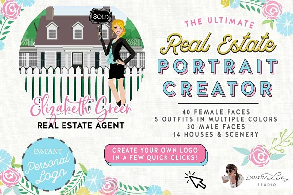 Illustrations and Illustration Products: Lauren Lesley Studio - REAL ESTATE PORTRAIT CREATOR