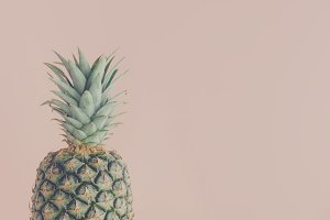 Art view of fresh pineapple